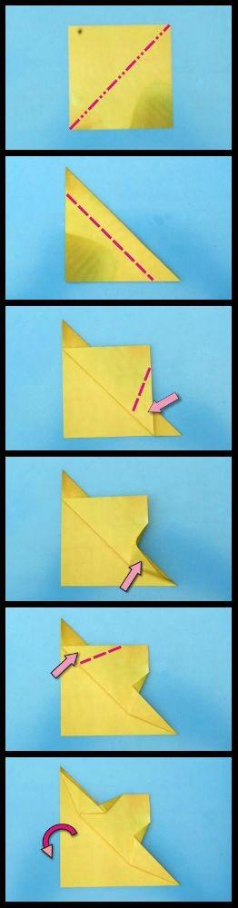 Оригами рыбка фото схема сборки вариант 2