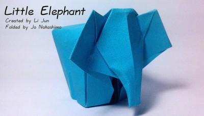 Оригами слон видео схема сборки