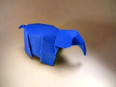 Оригами слоник мастер-класс от Jo Nakashima