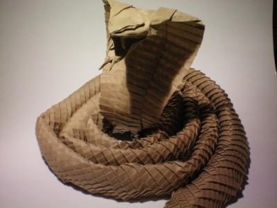Оригами сложные схемы Кобра от Ronald Koh