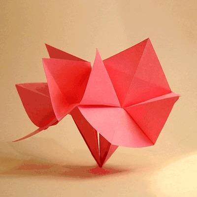 Оригами цветок для начинающих видео сборка