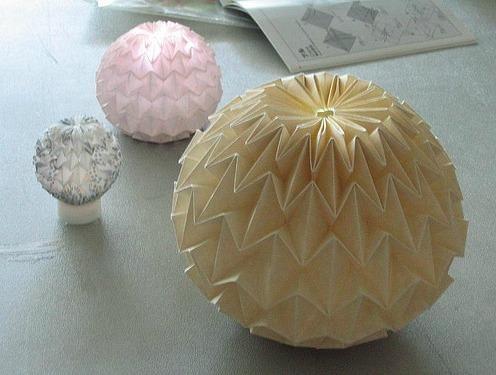Оригами волшебный шар из бумаги