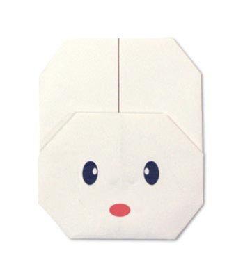 Оригами зайчик за схемой Fumiaki Shingu
