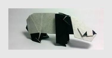 Панда оригами за схемой Robert J Lang