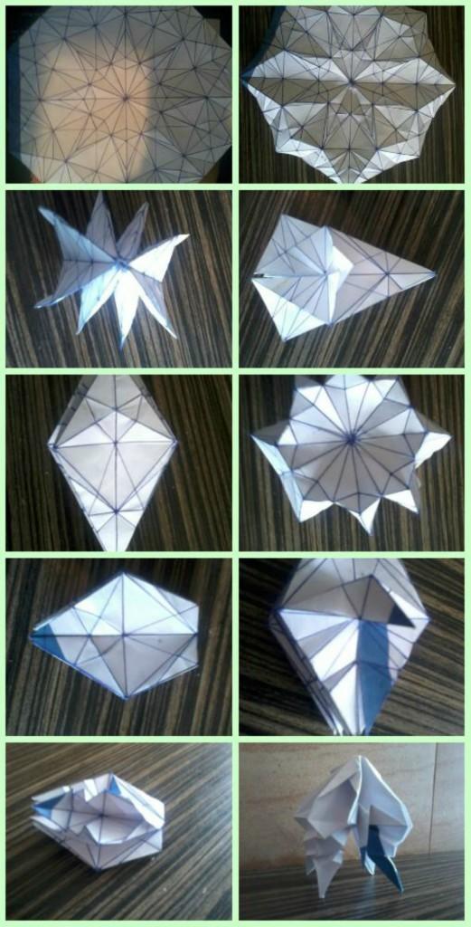 Паттерн Медуза оригами своими руками схемы сборки