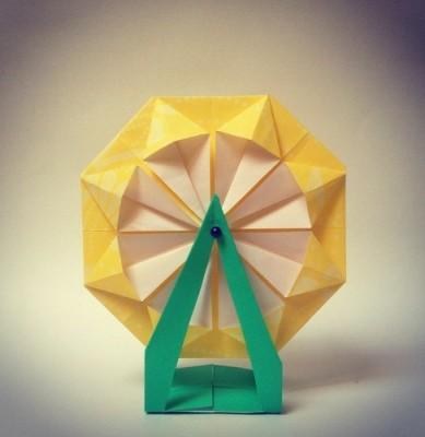 Прикольные оригами из бумаги Чертово колесо