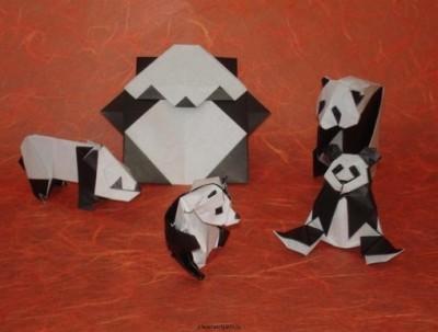 Схема оригами Панда от Robert J Lang