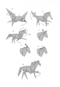 Схема оригами лошадь от J. An?bal Voyer