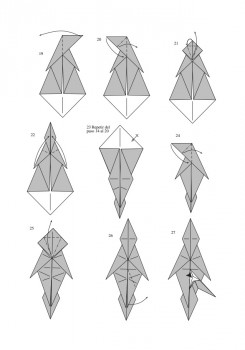Схема сборки лошади оригами от J. An?bal Voyer