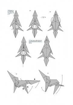 Схема складывания лошади оригами от J. An?bal Voyer