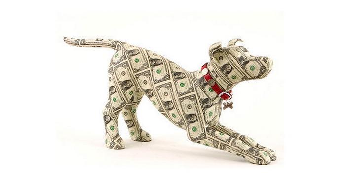 Собака из долларовой купюры