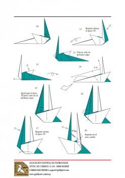 Бумажные Лебеди схема сборки 2