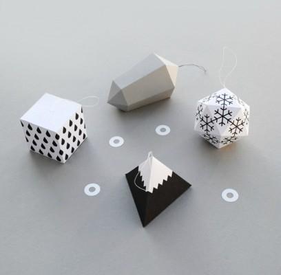 Бумажные игрушки на елку оригами