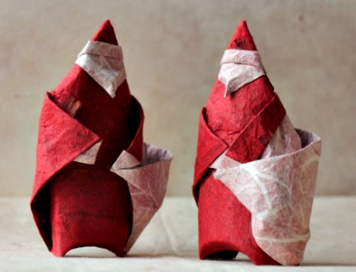 Бумажный Санта Клаус за схемой Peter Stein