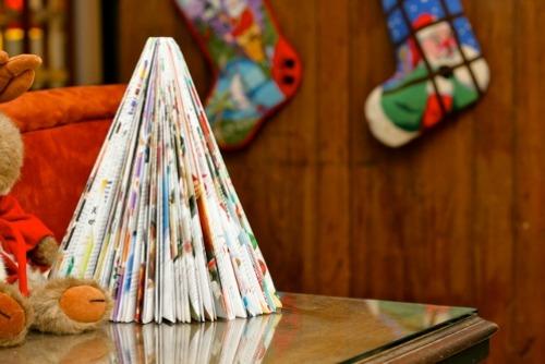 Елочка оригами из журнала