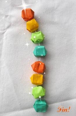 Гирлянды на Новый год оригами