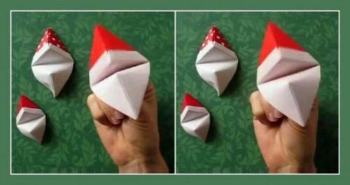 Как сделать фигурку оригами говорящий Дед Мороз