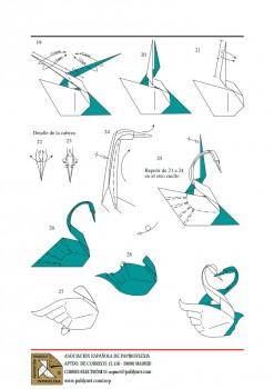 Лебеди оригами схема видео 3