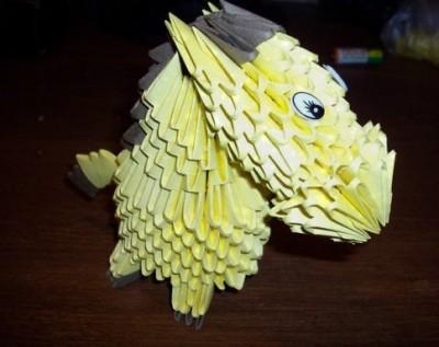 Модульное новогоднее оригами Лошадь видео урок