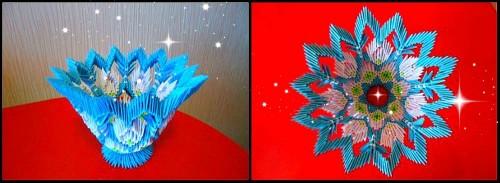 Модульное оригами Конфетница на Новый год