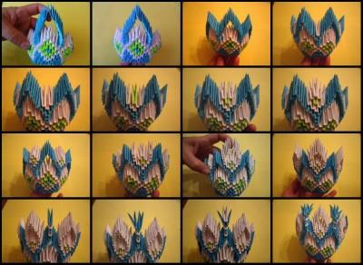 Модульное оригами конфетница фото схема 2