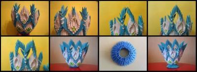 Модульное оригами конфетница схема сборки 3