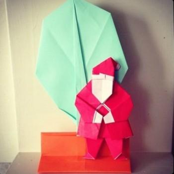 Новогодние оригами дед мороз видео урок