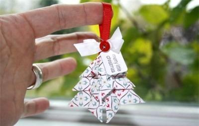 Новогодние оригами открытка своими руками