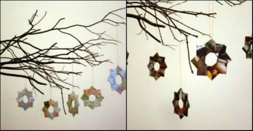 Новогодний декор. Оригами снежинка видео