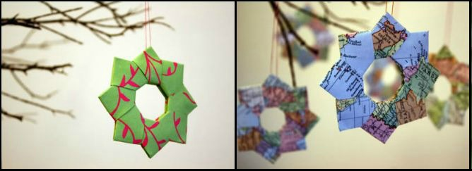 Новогодняя оригами снежинка мастер класс