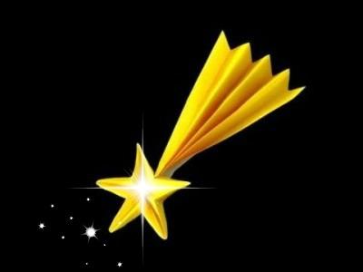 Новогодняя падающая звезда оригами