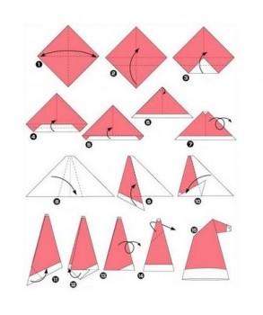 Новогодняя шапка оригами схема видео сборки