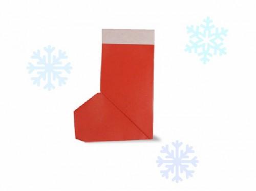 Оригами Новогодние сапожки