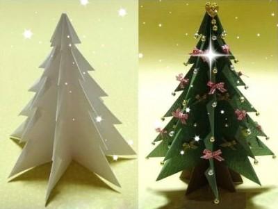 Оригами из бумаги елка схема сборки