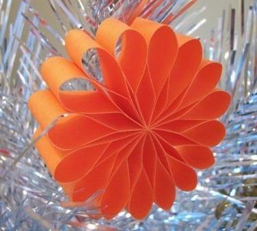 Оригами из бумаги новогодняя игрушка видео урок
