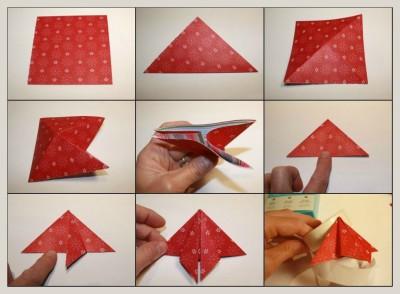Оригами из бумаги открытки на новый год схема сборки