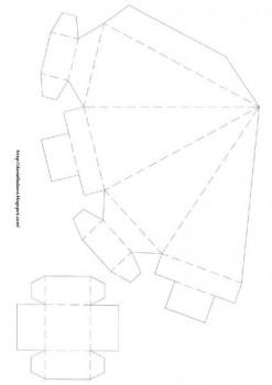 Оригами коробочка паттерн сборки