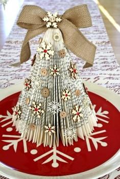 Оригами новогодние елки мастер-класс
