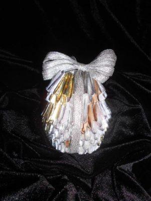 Оригами новогодние украшения -  Шишка из модулей