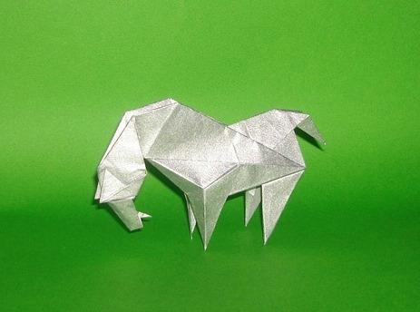 Оригами новогодняя Лошадь за схемой Dalas Dimitris
