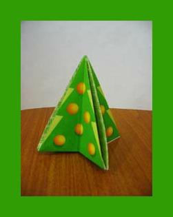 Оригами сувениры бумажная Ёлочка видео урок