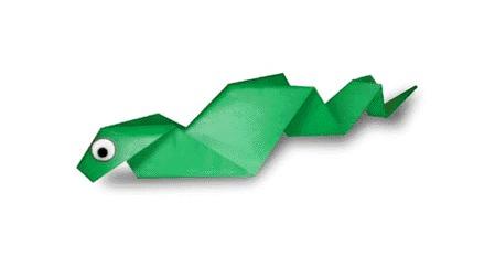 Оригами змея видео урок
