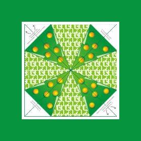 Паттерн сборки оригами Новогодняя елка