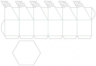 Паттерн сборки оригами снежинка коробочка