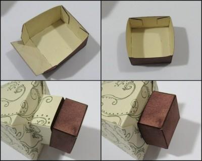 Подарочные коробочки оригами схема складывания ствола елки