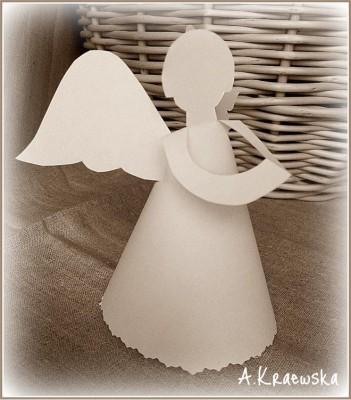 Рождественский оригами Ангел схема