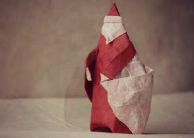 Санта оригами видео урок по сборке
