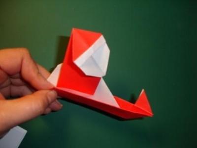 Санта в санях Оригами видео уроки схемы
