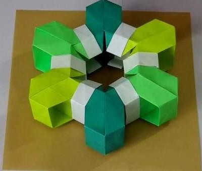 Снежинки оригами схемы