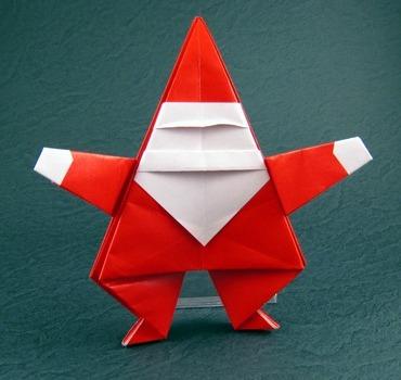 Веселый Дед мороз оригами